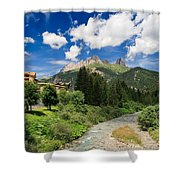 Dolomiti - Fassa Valley Shower Curtain