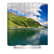 Dolomiti - Fedaia Lake Shower Curtain