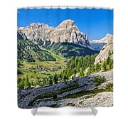Dolomiti - High Badia Valley Shower Curtain