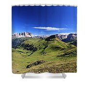 Dolomiti - High Fassa Valley Shower Curtain