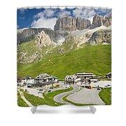 Dolomiti - Pordoi Pass Shower Curtain