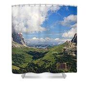 Dolomiti - Sella Pass Shower Curtain