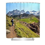 Dolomiti - Trekking In Val Ldi Fassa Shower Curtain