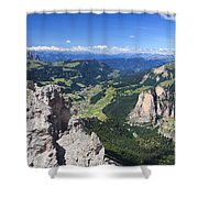 Dolomiti - Val Gardena Shower Curtain