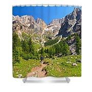 Dolomiti -landscape In Contrin Valley Shower Curtain