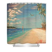 Dolphin Bay Shower Curtain by The Beach  Dreamer