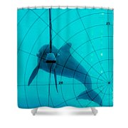 Dolphin Experiment Shower Curtain