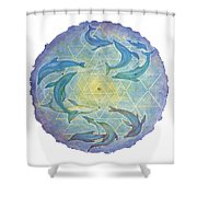 Dolphin Healing Shower Curtain