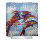 Dolphin Playjourney Shower Curtain