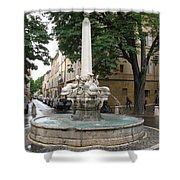 Dolphinfountain - Aix En Provence Shower Curtain