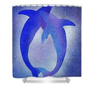 Dolphins 3 Shower Curtain
