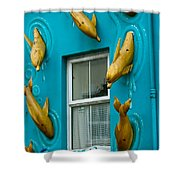 Dolphins At The Window Shower Curtain