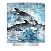 Dolphins In Gran Canaria Shower Curtain