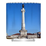 Dom Pedro Iv Monument In Lisbon Shower Curtain