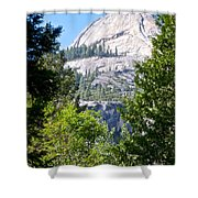 Dome Next To Half Dome Seen From Yosemite Valley-2013 Shower Curtain