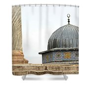 Dome Of The Rock Close Up Shower Curtain