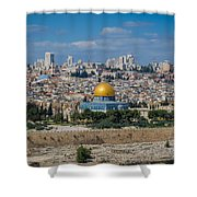 Dome Of The Rock In Jerusalem Shower Curtain