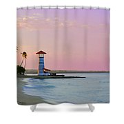 Dominican Lighthouse Shower Curtain