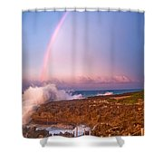 Dominican Rainbow Shower Curtain