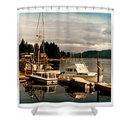 Domino At Alderbrook On Hood Canal Shower Curtain