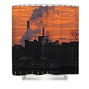 Domino Sugars Sunrise Shower Curtain