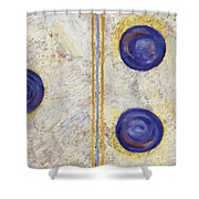Domino Three Abstract Shower Curtain