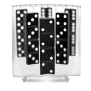 Dominoes Shower Curtain