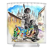 Don Quijotes New Pet Shower Curtain