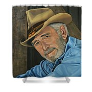 Don Williams Painting Shower Curtain