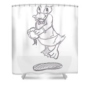 Donald Duck In Love Shower Curtain