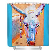 Jack's Other Girl - Burro - Donkey Shower Curtain