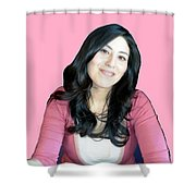 Donna In Pink Shower Curtain