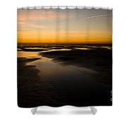 Donna Nook Dawn Shower Curtain