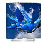 Donna's 1st Blue Bird Flight Shower Curtain