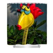 Donna's Bird Says Kiss Me Shower Curtain
