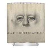 Dont Be Afraid Of The Dark Side Shower Curtain