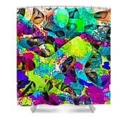 Dont Fall On The Road 3d Abstract I Shower Curtain