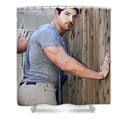 Dont Fence Me In Palm Springs Shower Curtain by William Dey