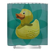 Don't Give A Rubber Duck Shower Curtain