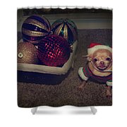 Don't Hang Me On Your Tree Shower Curtain by Laurie Search
