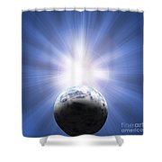 Doomed Planet 01 Shower Curtain