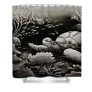 Doomed Sea Life Shower Curtain