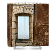 Door And Window Of The Old World Shower Curtain