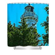 Door County Wi Lighthouse Shower Curtain