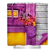 Door - Lavender Shower Curtain by Mike Savad