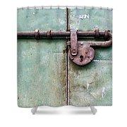 Door Lock Shower Curtain