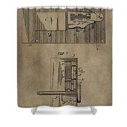 Door Lock Patent Shower Curtain