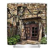 Door Montepulciano Italy Shower Curtain