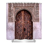 Door Of The Court Of The Myrtles Shower Curtain