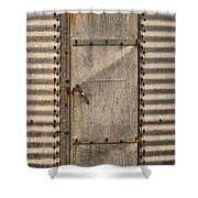 Door On An Old Metal Silo Shower Curtain